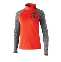 Running Dog Ladies Pullover with Asymmetrical Zip and Foldover Mittens