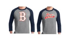 "Baseball T Shirt with ""B"" Logo or Script Logo"