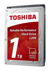 Toshiba L200 1TB Mobile 2.5 Inch SATA 5400rpm Internal Hard Drive