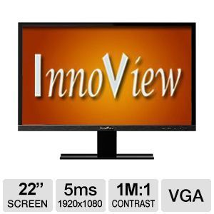 """HKC Innoview I22LMH1 22"""" Class Widescreen LED Monitor - 1920x1080, 1,000,000:1 (Dynamic Contrast), 16:9 Aspect Ratio - I22LMH1"""
