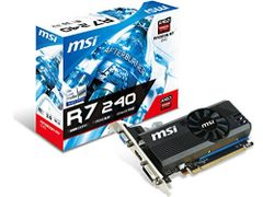 MSI AMD Radeon R7 240 2GB DDR3 VGA/DVI/HDMI Low Profile PCI-Express Video Card