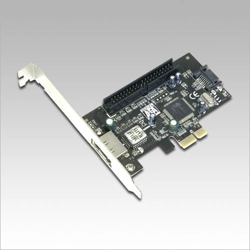 Masscool XWT-PCIE15 2-Port SATA and IDE PCI Express Card - PCI Express x1, SATA II Support, 1 x External SATA Port, 1 x Internal SATA Port, 1 x IDE ATA-133 Header, NCQ Support, RAID