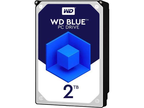 WD Blue 2TB Desktop Hard Disk Drive - 5400 RPM SATA 6Gb/s 64MB Cache 3.5 Inch - WD20EZRZ