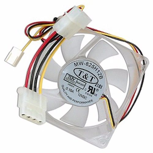 "3"" x 3"" (80mm) T&T MW-825H12B Case Fan w/3-Pin & 4-Pin Connectors"