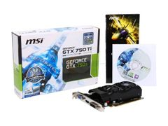 MSI GeForce GTX 750 Ti DirectX 11.2 N750 Ti-2GD5TLP 2GB 128-Bit GDDR5 PCI Express 3.0 x16 HDCP Ready Video Card