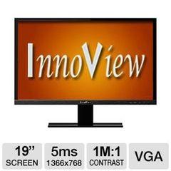 "HKC InnoView 19"" LED Widescreen Monitor - VGA, 16:9, 1366x768, 200 nits, 1,000,000:1, 5ms - I19LMH1"