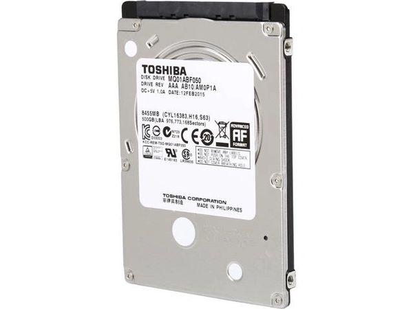 """TOSHIBA MQ01ABF050 500GB SATA 6.0Gb/s 5400 RPM 2.5"""" Hard Drive"""