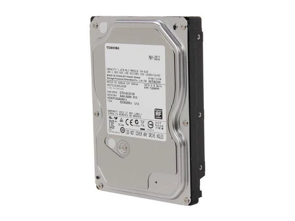 "TOSHIBA DT01ACA100 1TB 7200 RPM 32MB Cache SATA 6.0Gb/s 3.5"" Internal Hard Drive Bare Drive"