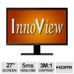 "HKC Innoview 27"" Widescreen LED Monitor - 1920x1080, 3,000,000:1, 16:9, VGA & HDMI Input, 5ms - I27LMH1"