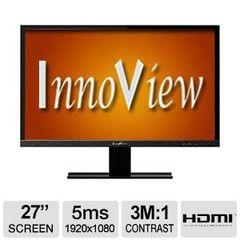 "HKC Innoview 27"" Widescreen LED Monitor - 1920x1080, 3,000,000:1, 16:9, VGA & HDMI Input, 5ms - I27LMH1"