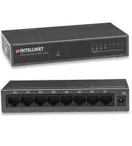 Intellinet 10/100 8 Port Switch Desk Metal