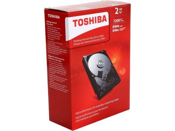 "TOSHIBA P300 HDWD120XZSTA 2TB 7200 RPM 64MB Cache SATA 6.0Gb/s 3.5"" Desktop Internal Hard Drive Retail Kit"