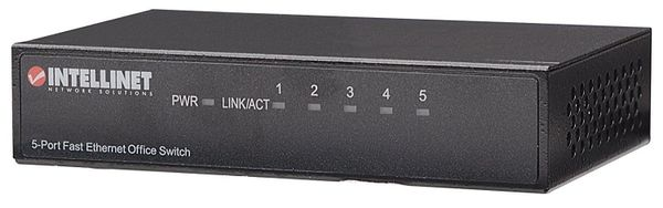 Intellinet 5-Port 10/100Mbps Fast Ethernet Office Switch (Metal) (523301)
