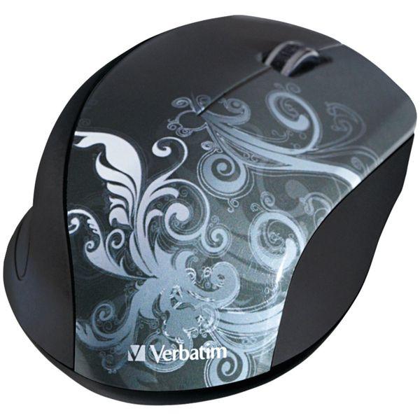 Verbatim Wireless Optical Design Mouse, Graphite Green 97786