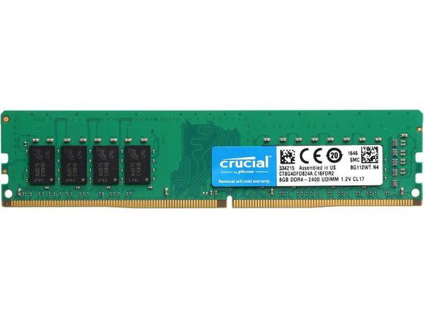 Crucial 8GB 288-Pin DDR4 SDRAM DDR4 2400 (PC4 19200) Desktop Memory Model CT8G4DFD824A
