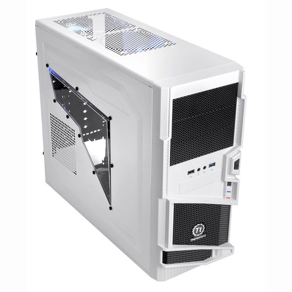 Thermaltake Commander MS-I Snow Edition VN40006W2N No PS Mid Tower Case (Black/White)
