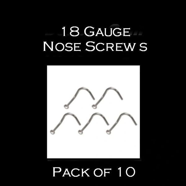 18 Gauge Nose Screws