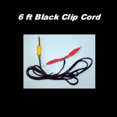 6 ft Black Clip Cord