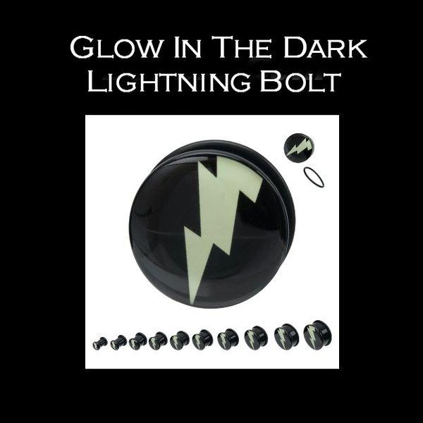 Glow In The Dark Lightning Bolt Plug