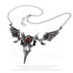 P798 - Masque Of The Black Rose Necklace