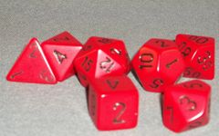 Chessex Opaque Polyhedral 7-Die set