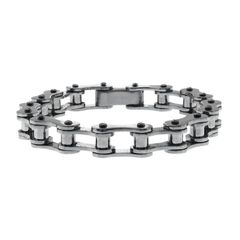 Men's Stainless Steel Thin Motorcycle Bracelet