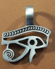 Egyptian Eye Pewter Pendant on Neck Cord
