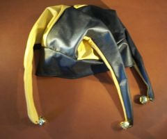 Leather Jester's Cap