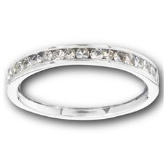 STAINLESS STEEL RING WITH CLEAR CZ