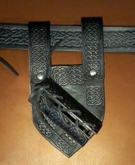 Celtic Leather Sword Frog