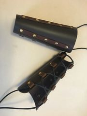 Pair of Leather Archer Bracers w Splints