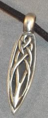 Celtic Knot Drop Pewter Pendant on Neck Cord