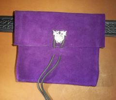 Small Suede Belt Pouch