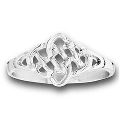 STAINLESS STEEL ENDLESS CELTIC WEAVE RING