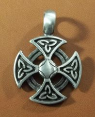 Celtic Cross Pewter Pendant on Neck Cord
