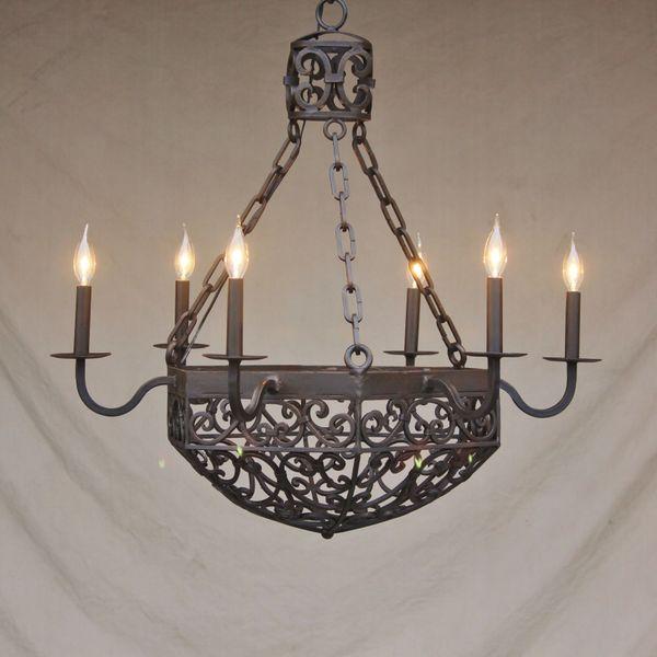 1145 6 spanish revival spanish colonial chandelier spanish 1145 6 spanish revival spanish colonial chandelier aloadofball Images