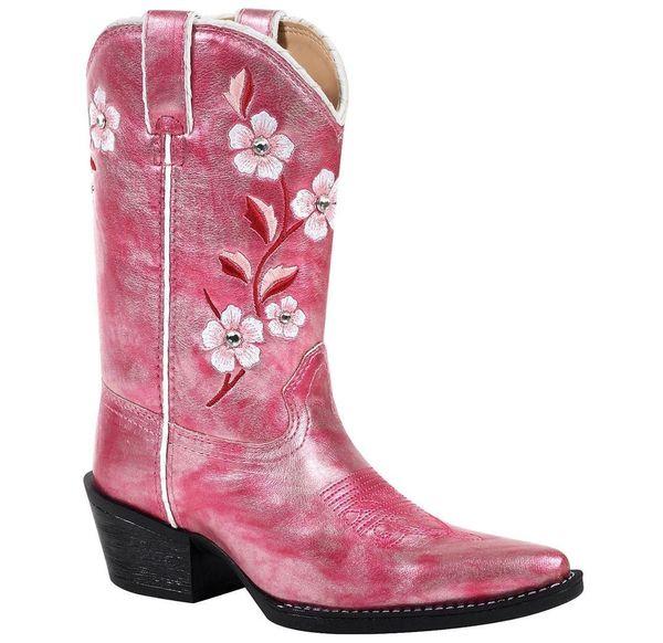 6db20e4b4b5d99 Durango Youth Girls Blush Shimmer Western Boots