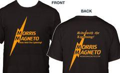 Morris Magneto Black shirt (amber logo)