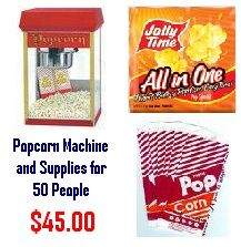 Popcorn Rental Package