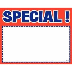 Special! Red Sign Cards - 5 x 7 (100 units)