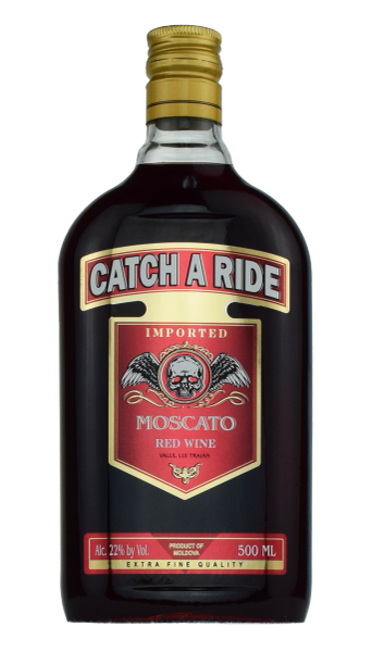 Catch a Ride Red Moscato 22% ABV (1 Case)
