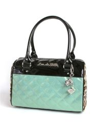 Mini Atomic Tote In Black and Baby Green Sparkle