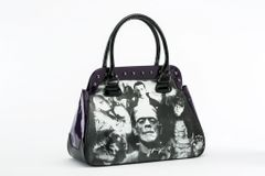 Universal Monsters Collage Handbag in Deep Purple
