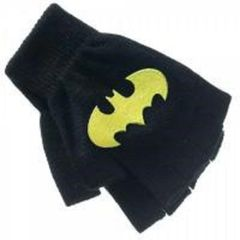 Batman Logo Knit Fingerless Gloves