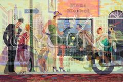 Corner Sales-24x36 Print On Fine Art Paper
