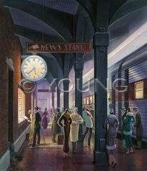 Arrival Of The 545-36x30 Print On Fine Art Paper