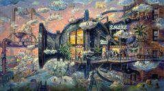 Smoke Shop-20x36 Print On Canvas