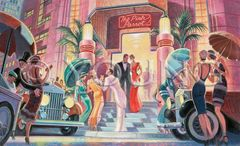 Pink Parrot Club-22x36 Print On Canvas