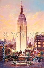 Empire State-36x24 Print On Canvas
