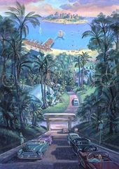 Downhill Drive-32x23 Print On Canvas